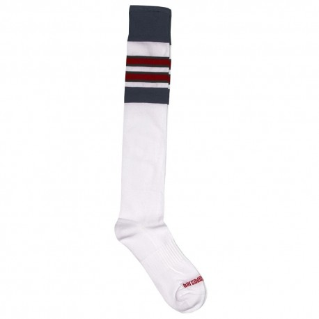 Football Socks - White - Navy