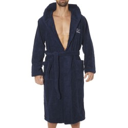 EA7 Sea World Bathrobe - Navy Emporio Armani