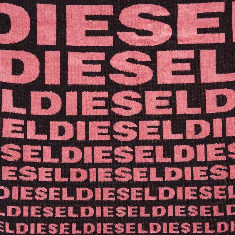 diesel diesel logo towel black pink