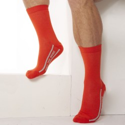 Chaussettes Only The Brave - Orange Diesel