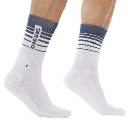 Chaussettes Stripe Blanches Diesel