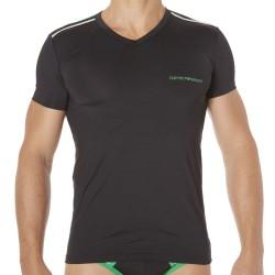 T-Shirt Trendy Multicolor Microfiber Noir Emporio Armani