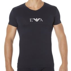 T-Shirt Colored Basic Cotton Stretch Marine Emporio Armani