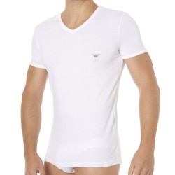 T-Shirt Fancy Back to the 90\'s Blanc Emporio Armani