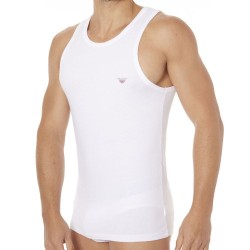Débardeur Fancy Back to the 90\'s Blanc Emporio Armani