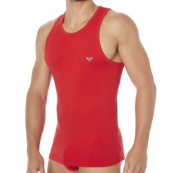 Débardeur Fancy Back to the 90\'s Rouge Emporio Armani