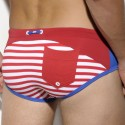Lucas Sailor Swim Brief - Red - Royal