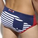Lucas Sailor Swim Brief - Navy - Red