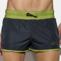 Rafal Neon Swim Short - Black