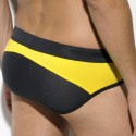 Nino's Swim Brief - Black - Yellow