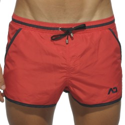 Short de Bain Basic Piping Rouge Addicted