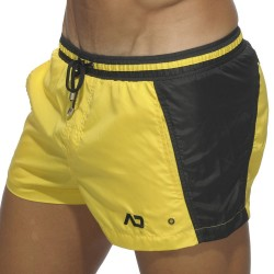 Short de Bain Bicolor Jaune Addicted
