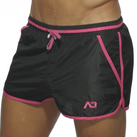 Basic Piping Swim Short - Black