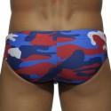 Camouflage Sport Swim Brief - Red