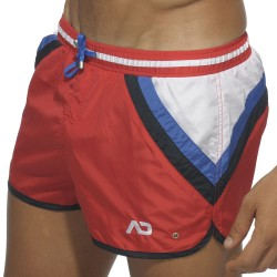 Short de Bain Stripes Rouge Addicted