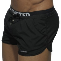 Short de Bain Double Waistband Noir Addicted