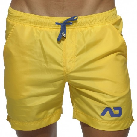 Short de Bain Long Basic Jaune