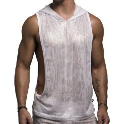 Débardeur Shine Gym Hoodie Blanc Andrew Christian