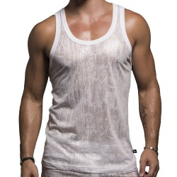 Shine Tank Top - White Andrew Christian