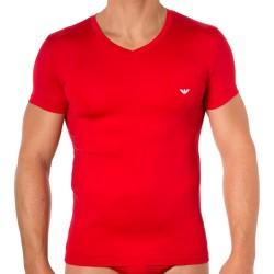 T-Shirt Colored Basic Microfiber Rouge Emporio Armani