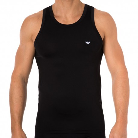 Colored Basic Microfiber Tank Top - Black