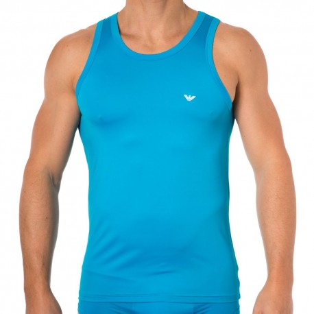 Colored Basic Microfiber Tank Top - Turquoise