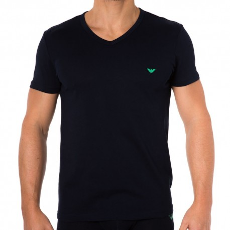 Colored Basic Genuine Cotton T-Shirt - Navy