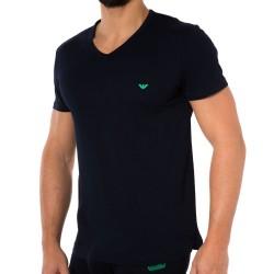 T-Shirt Colored Basic Genuine Cotton Marine Emporio Armani