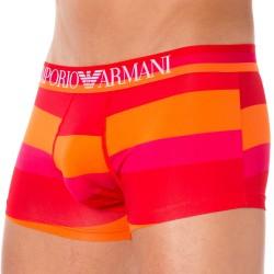 Boxer Trendy Multicolor Microfiber Rouge - Magenta -Orange Emporio Armani