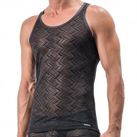 M552 Micro Shirt Tank Top - Black