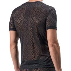 T-Shirt Col V Low M552 Noir Manstore