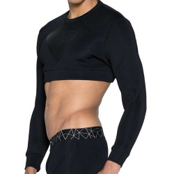 Sweat-Shirt Blk Aktiv Cropped Noir 2Eros
