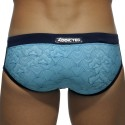 Asian Print Swim Brief - Navy