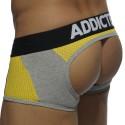 Combi Mesh Bottomless Boxer - Grey - Yellow