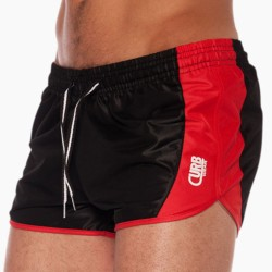 Short Stadium Run Noir - Rouge Curbwear