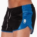Stadium Run Short - Black - Blue