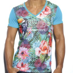 T-Shirt Tropical Bleu ES Collection