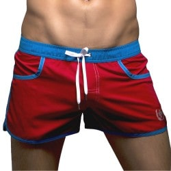 Short de Bain Coast Rouge Andrew Christian