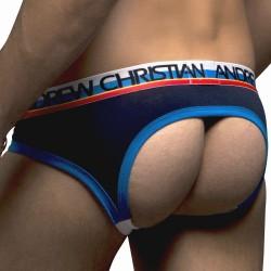 Jock Strap Locker Room Almost Naked avec Show-It Marine  Andrew Christian