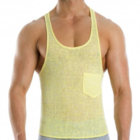 Flame Tank Top - Jaune