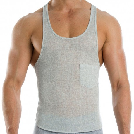Flame Tank Top - Grey