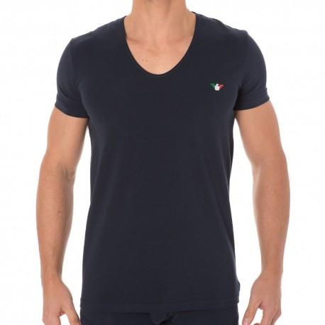 Fancy Italian Logoband T-Shirt - Navy