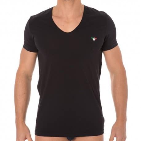 Fancy Italian Logoband T-Shirt - Black