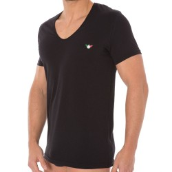 T-Shirt Fancy Italian Logoband Noir Emporio Armani