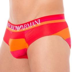 Slip Trendy Multicolor Microfiber Rouge - Magenta - Orange Emporio Armani