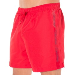 Short de Bain CK One Logo Tape Rouge Calvin Klein