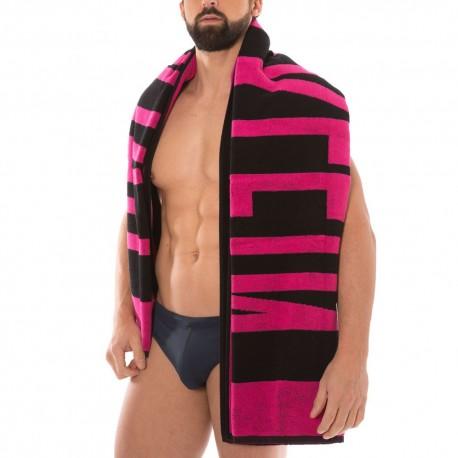 Beach Towel - Pink - Black