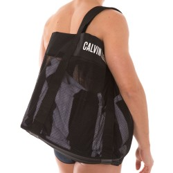Sac de Plage Mesh Noir Calvin Klein