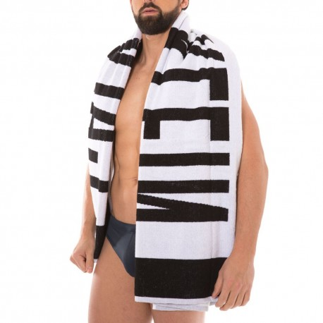Beach Towel - Black - White