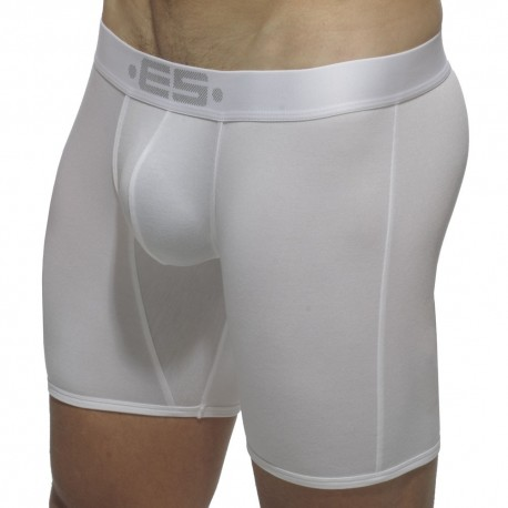Boxer Long Basic Modal Push Up Blanc